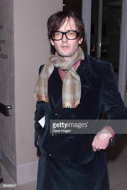 British pop star Jarvis Cocker arrives at the presentation of the award of the Turner Prize to British artist Martin Creed at the Tate Gallery on...