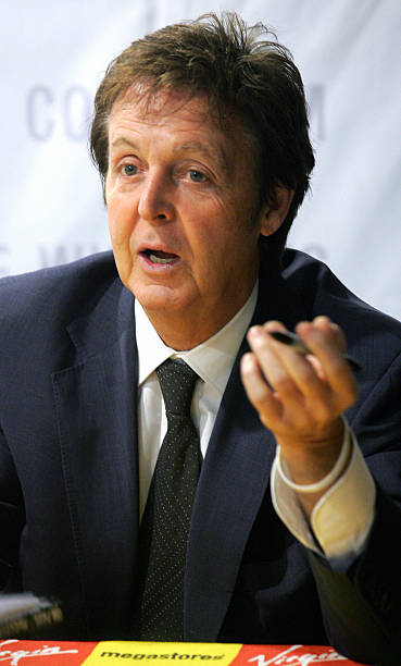 British Pop Star Paul McCartney Is Seen As He Promotes His New Music CD At The