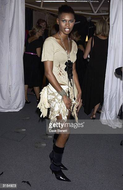British pop star Skin attends the 'Lycra British Style Awards 2003' held at Old Billingsgate Market on September 25 2003 in London