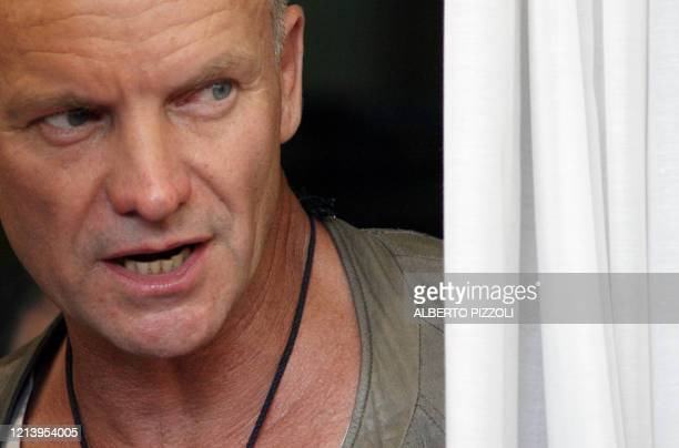 British pop star Sting looks on as he arrives for a photocall at the 63rd Venice International Film Festival at Venice Lido 03 September 2006. Sting...