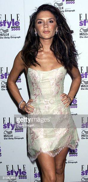 British pop star Victoria Beckham attends the Elle Style Awards on July 9 2000 in London