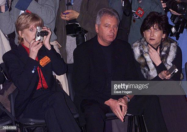 British pop star Victoria Beckham's family attend their daughters fahion show for Maria Grachvogel on February 16 2000 in London