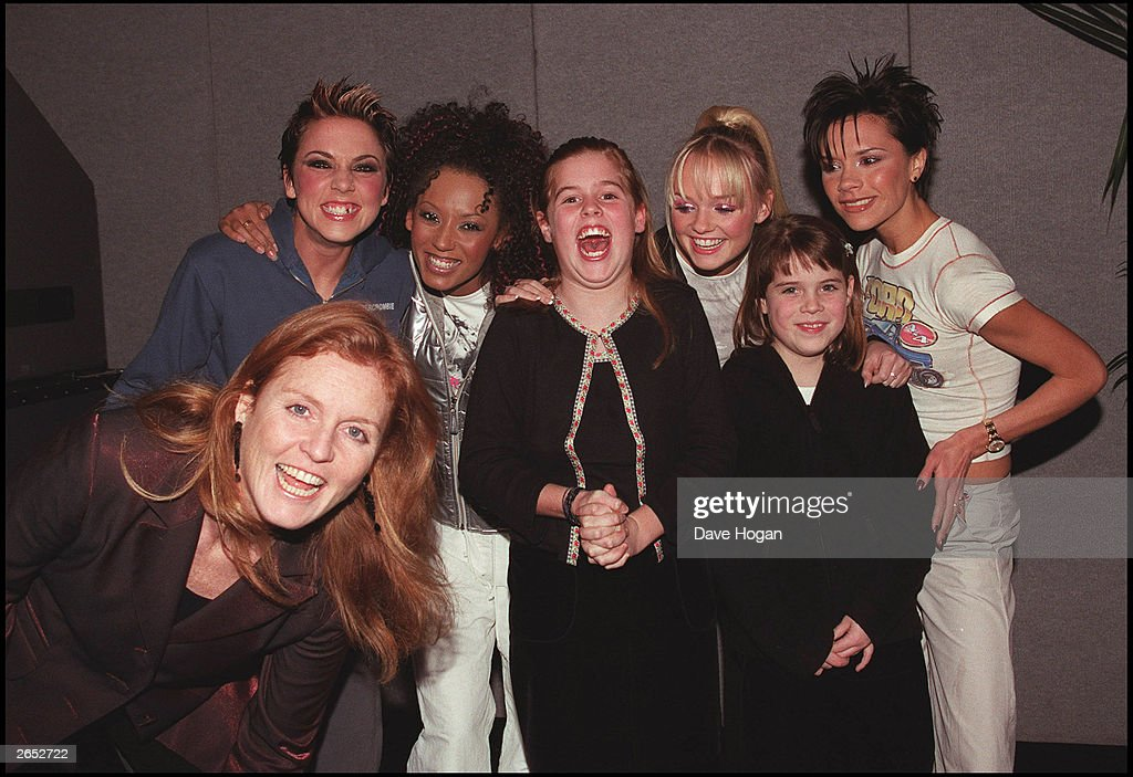 "Sarah Ferguson, ""Mel C"", ""Mel B"", Princess Eugenie, Emma Bunton, Princess Beatrice and Victoria Beckham : News Photo"