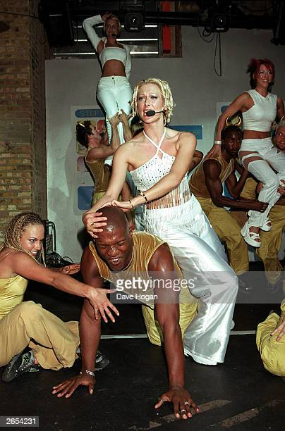 British pop stars Faye Tozer Claire Richards and Lisa Scott Lee of the pop group 'Steps' perform on stage at the Fabric Club on October 25 1999 in...