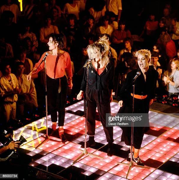 British Pop vocal group Bananarama performing 'Cruel Summer' at the Montreux Rock Festival Switzerland May 1984