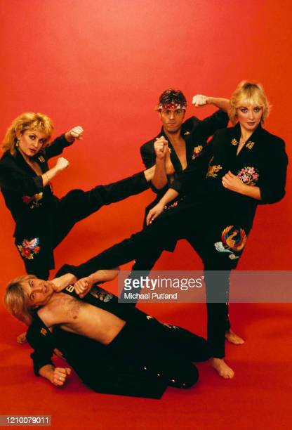 British pop vocal group Bucks Fizz in 1982 Clockwise from top left Jay Aston Mike Nolan Cheryl Baker and Bobby G