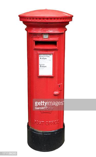 British Post Box Isolated on White