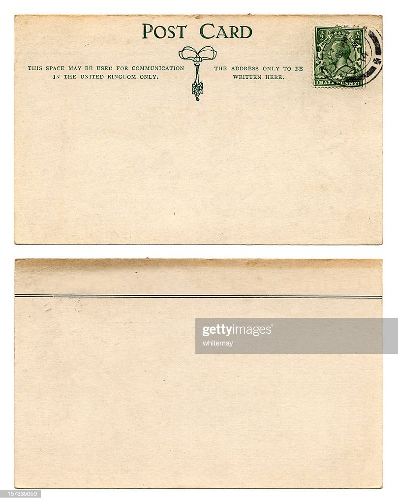 British Postcard Front And Back 1914