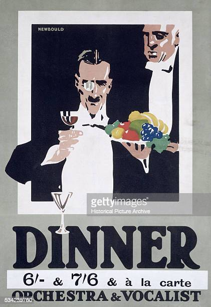 British Poster for Dinner Club by Frank Newbould