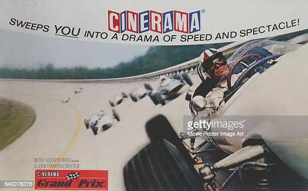 A British poster for John Frankenheimer's 1966 motor racing film 'Grand Prix' starring James Garner
