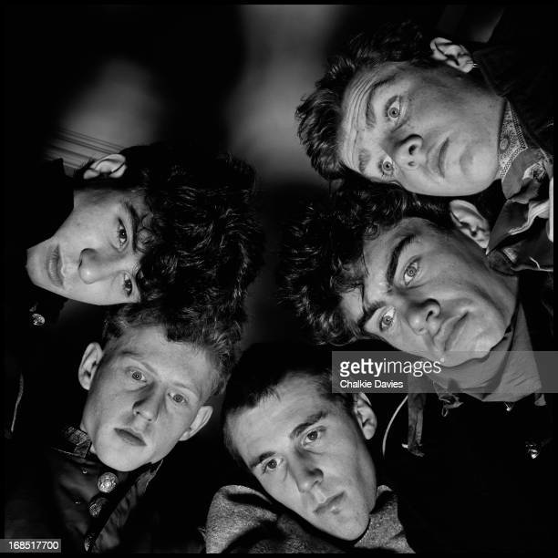 British postpunk band The Pop Group Bristol 1979 Left to right Bruce Smith John Waddington Simon Underwood Mark Stewart and Gareth Sager