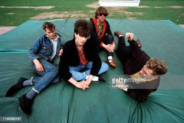 British postpunk group Echo the Bunnymen Italy circa 1985