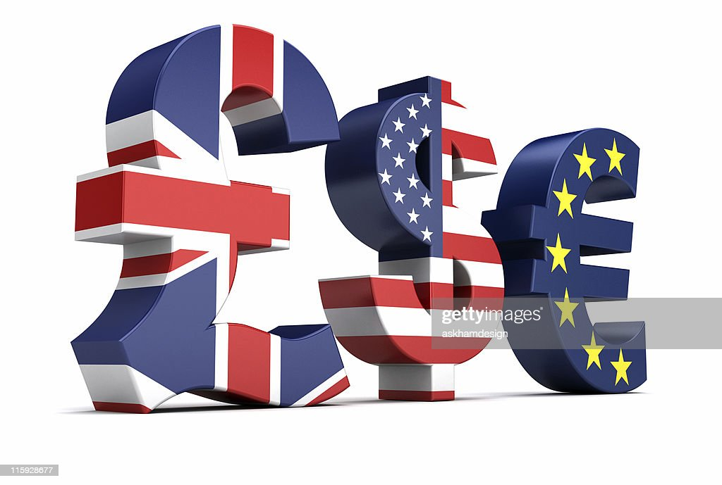 British Pound Us Dollar Euro Currency Symbols Stock Photo Getty Images