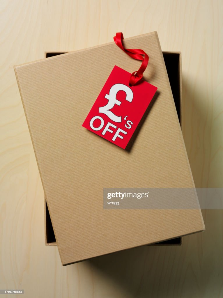 British Pounds Symbol Label And Box Stock Photo Getty Images