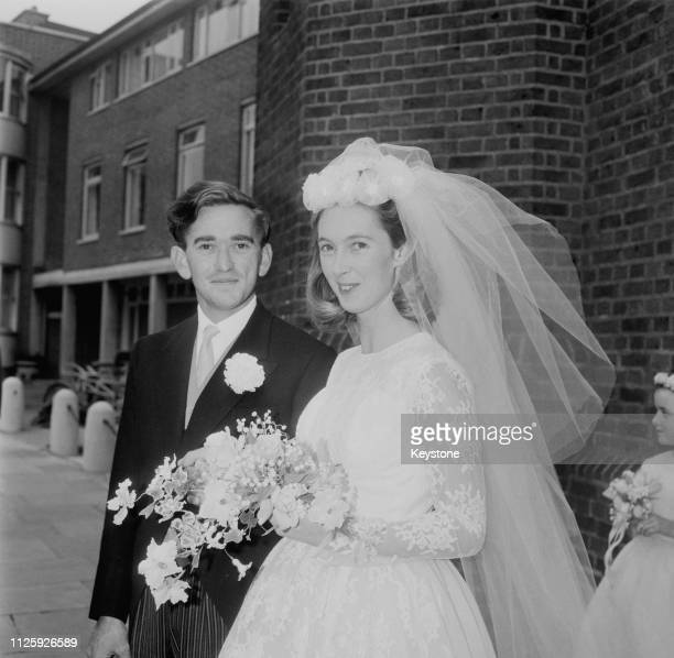 British primatologist Jane Goodall marries wildlife photographer Hugo Arndt Rodolf Baron van Lawick at the Chelsea Old Church in London 28th March...