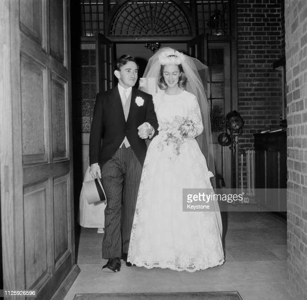 British primatologist Jane Goodall marries wildlife photographer Hugo Arndt Rodolf, Baron van Lawick at the Chelsea Old Church in London, 28th March...