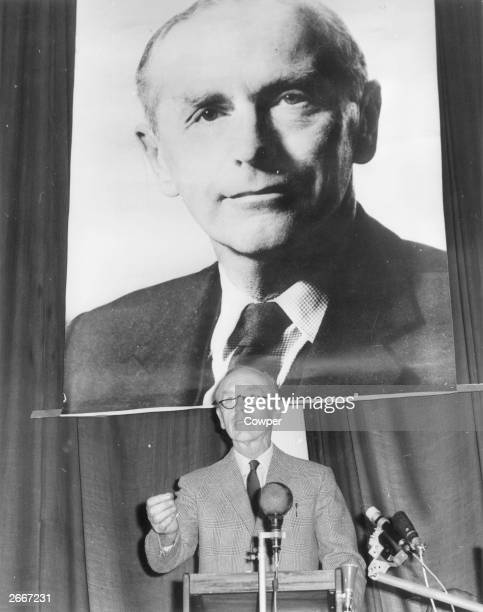British Prime Minister Alec Douglas-Home is adopted as the Unionist candidate for Kinross and West Perthshire at a meeting in Crieff, Perthshire.