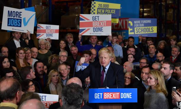 GBR: Boris Johnson Visits North East In Campaign's Final Days