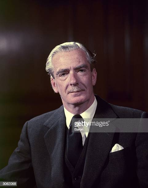 British prime minister Anthony Eden who resigned in 1957 following controversy over his handling of the Suez Canal crisis
