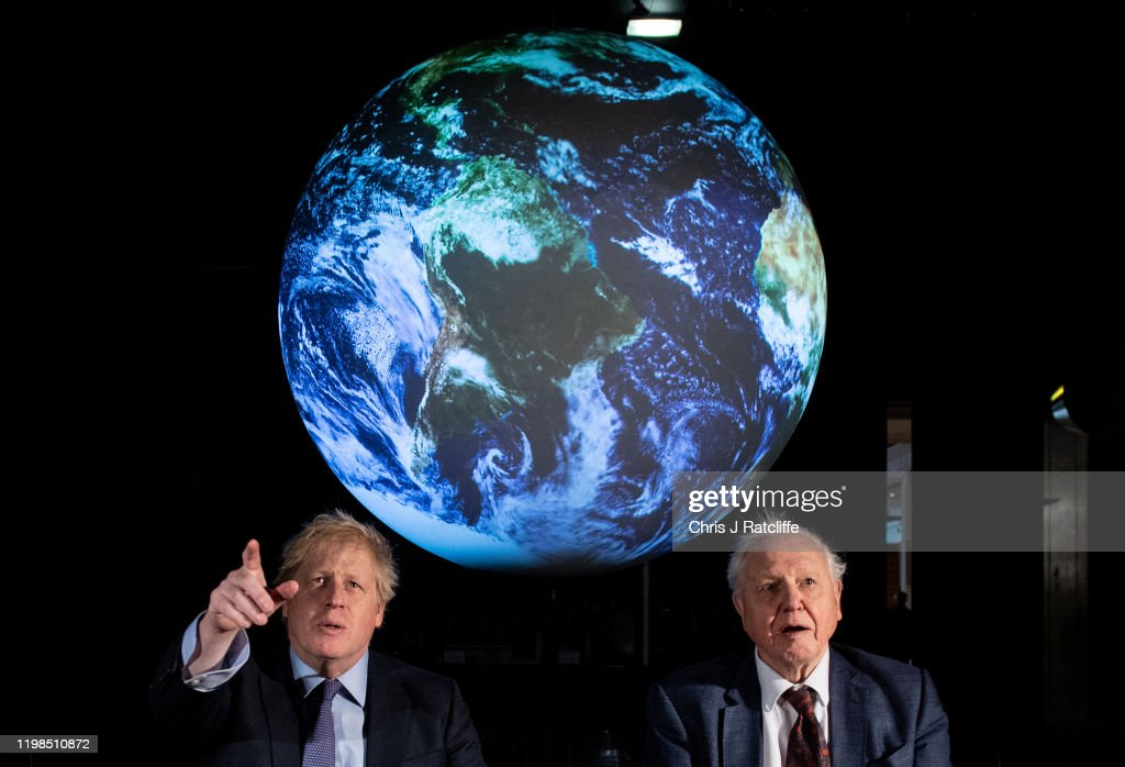Boris Johnson Launches UN Climate Change Conference To Be Held Later This Year : Nieuwsfoto's