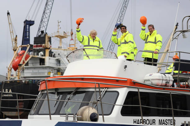 GBR: The Prime Minister And Chancellor Make Post-budget Visit To Teesport