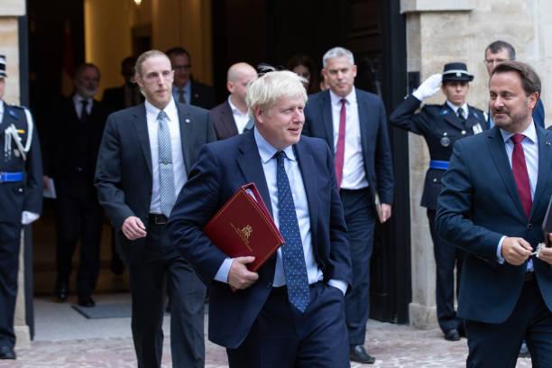 LUX: Boris Johnson Meets Luxembourg Prime Minister