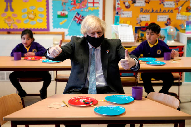 GBR: British PM Visits School In Stoke-On-Trent Ahead Of Reopening