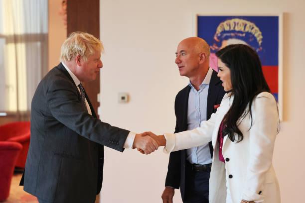 NY: British PM Boris Johnson Meets With Amazon Founder Jeff Bezos