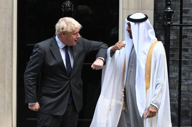 GBR: Boris Johnson Hosts The Crown Prince of Abu Dhabi