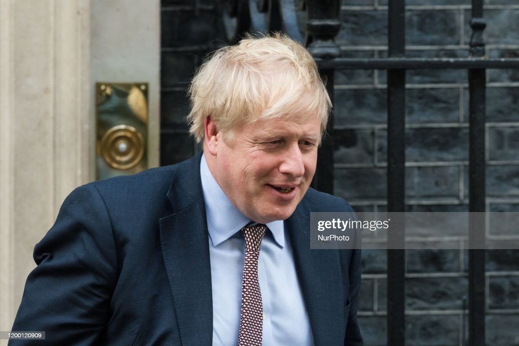 Boris Johnson Departs For The House Of Commons : ニュース写真