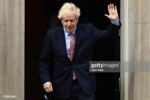British Prime Minister Boris Johnson leaves Downing Street ahead of delivering his Leader's Speech to the Conservative Party Conference on October 6,...