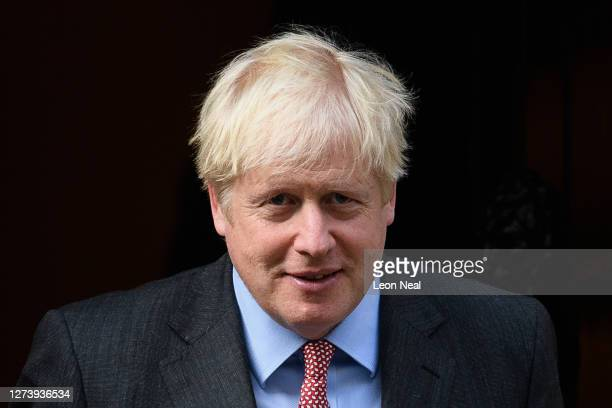 British Prime Minister Boris Johnson leaves Downing Street heading to 1922 committee meeting on September 21, 2020 in London, England. On Sunday, the...