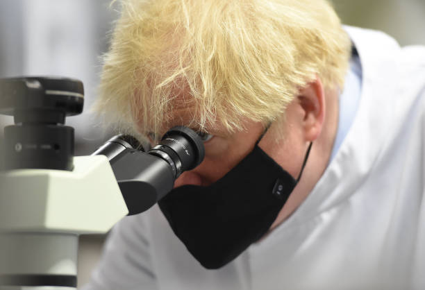 GBR: Boris Johnson Touts Vaccination Effort In Visits To Lab And Vaccine Centre