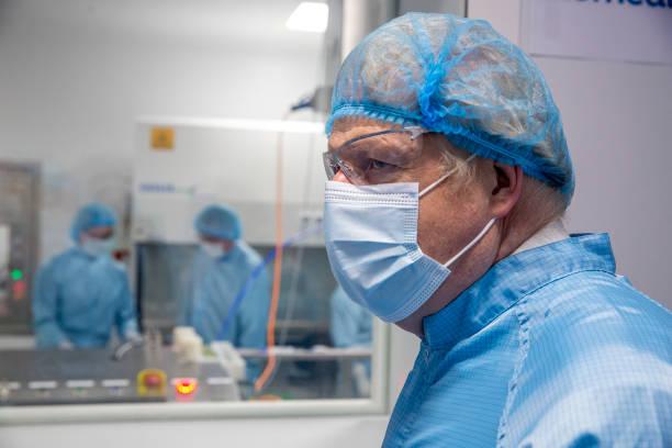 GBR: Boris Johnson Visits Covid-19 Vaccine Manufacturer Oxford Biomedica
