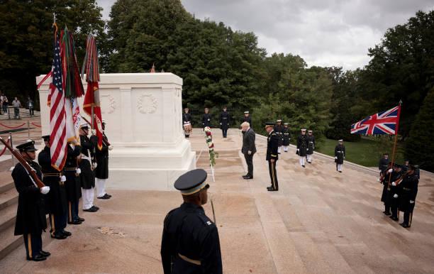 VA: British PM Boris Johnson Visits Arlington National Cemetery