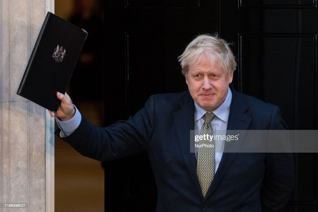 Boris Johnson's Speech In Downing Street Following General Election Victory : Nieuwsfoto's