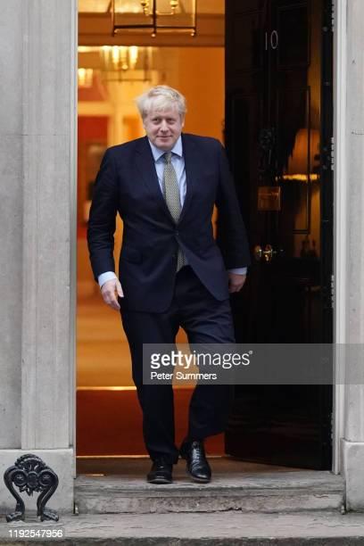 British Prime Minister Boris Johnson prepares to meet EU Commission President Ursula von der Leyen at 10 Downing Street on January 8, 2020 in London,...