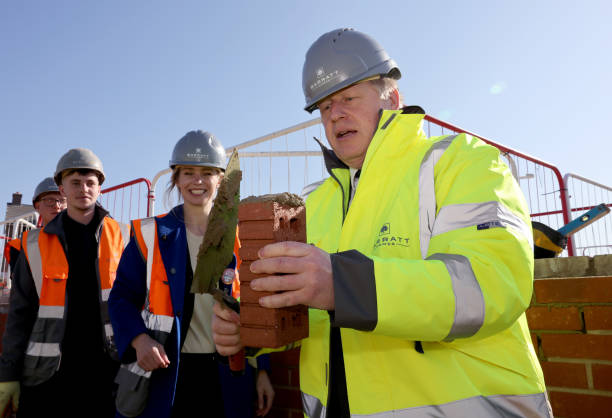 GBR: Boris Johnson Visits Gloucestershire