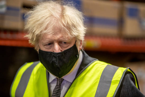 GBR: Boris Johnson Visits Covid-19 Vaccine Manufacturer Oxford Biomedica