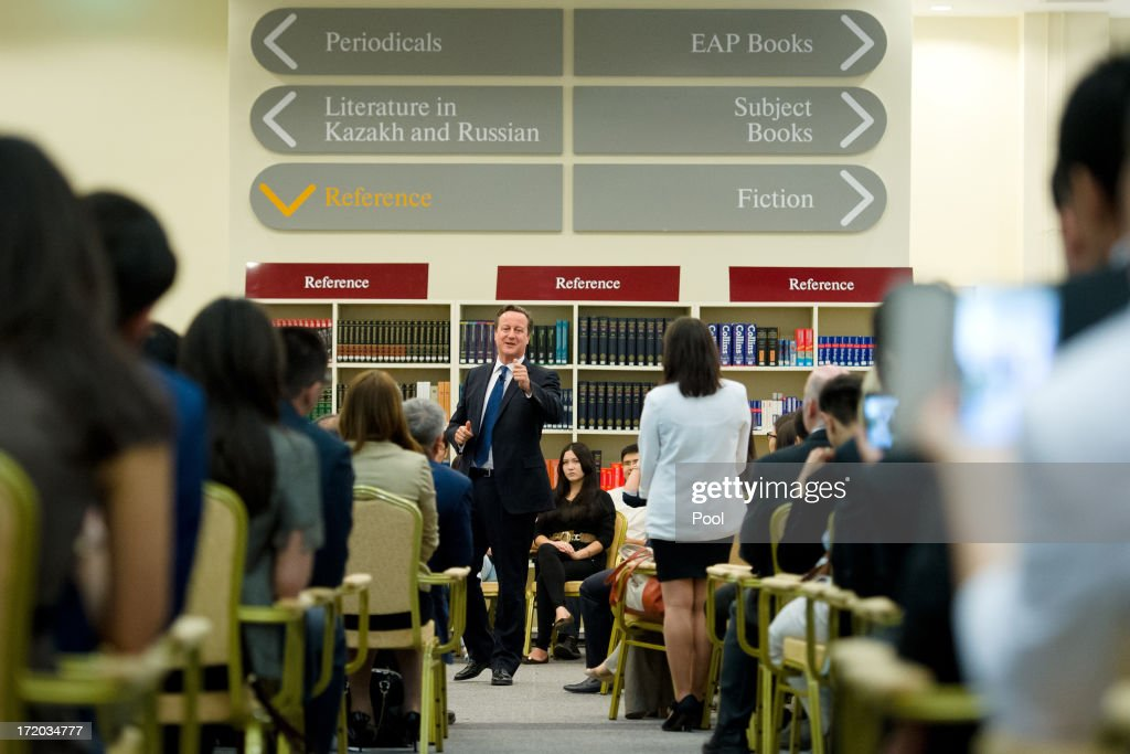 British Prime Minister David Cameron Visits Kazakhstan : News Photo