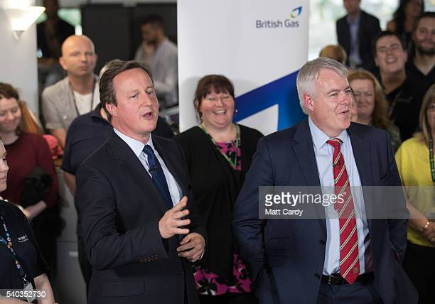 British Prime Minister David Cameron and First Minister of Wales Carwyn Jones make speeches on the EU and to take part in a joint question and answer...