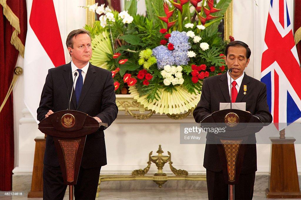 UK Prime Minister David Cameron Visits Jakarta