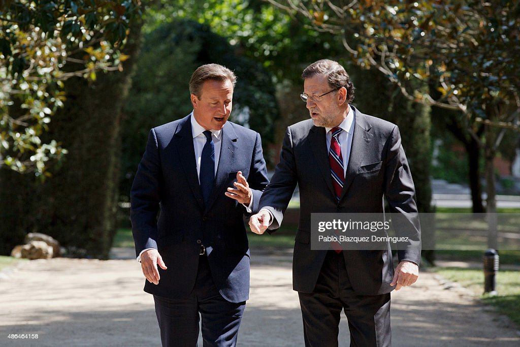 David Cameron Meets Spanish President Mariano Rajoy : News Photo