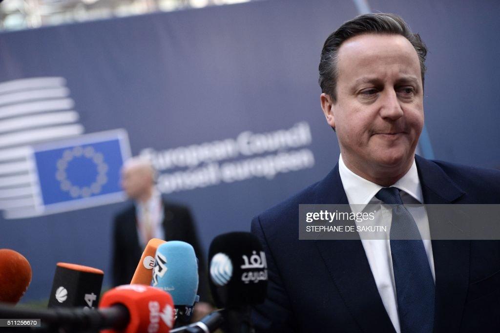 BELGIUM-EU-BRITAIN-SUMMIT : News Photo