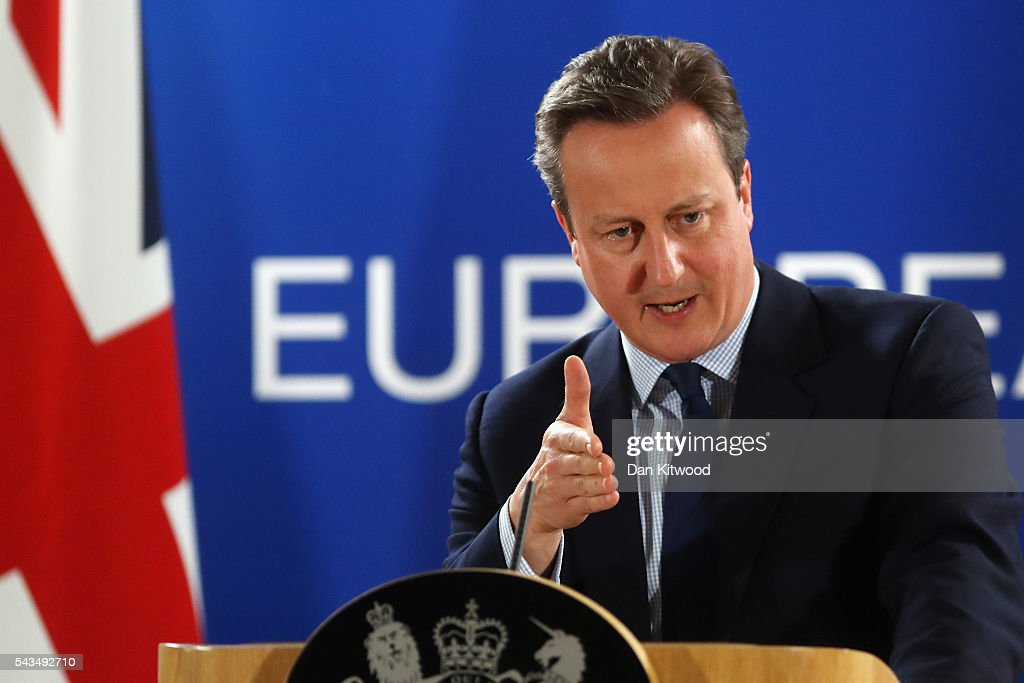 British Prime Minister Attends European Council Meeting Following The UK's Decision To Leave The EU : Nieuwsfoto's