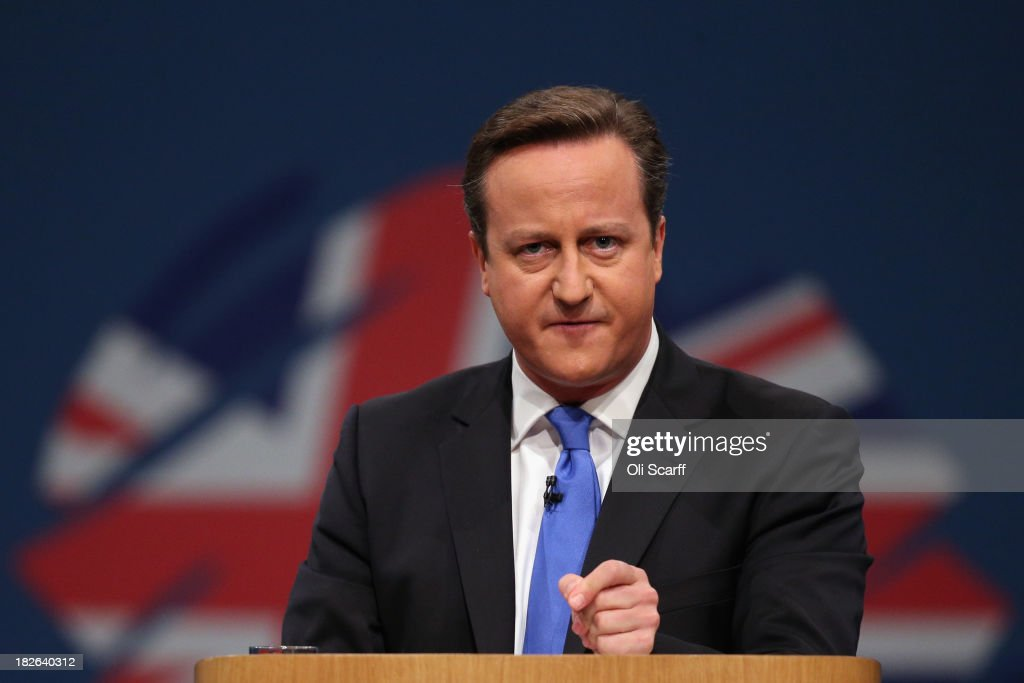 Prime Minister David Cameron Delivers His Keynote Speech At The Conservative Party Conference