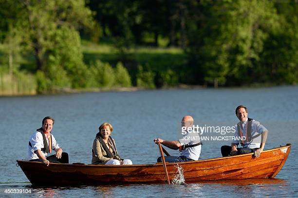 British Prime Minister David Cameron, German Chancellor Angela Merkel, Swedish Prime minister Fredrik Reinfeldt and Dutch Prime Minister Mark Rutte...