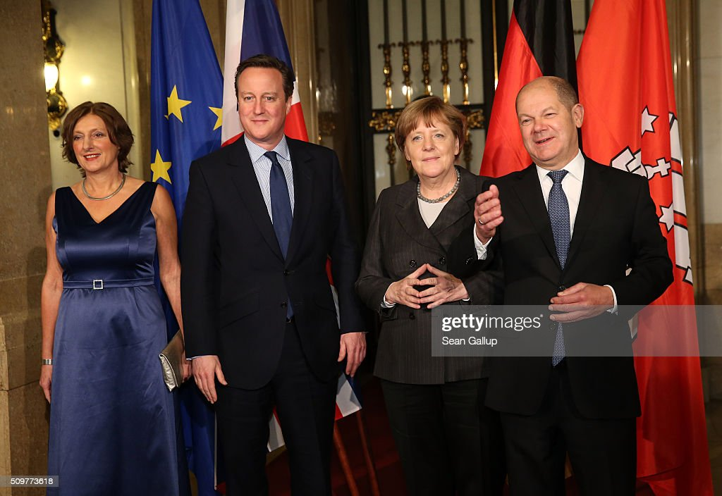 David Cameron Attends Matthiae-Mahl In Hamburg