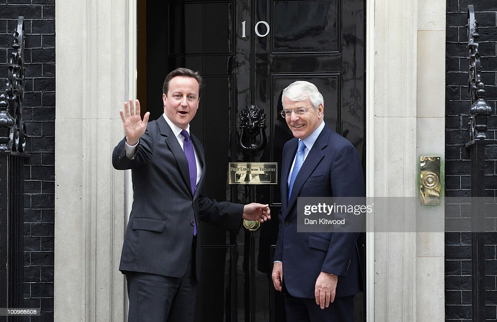 David Cameron Meets With John Major In Downing Street