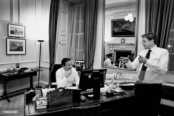 British Prime Minister David Cameron in his Downing Street office in discussion with Cabinet Secretary Sir Jeremy Heywood In 2013 Heywood was sharply...